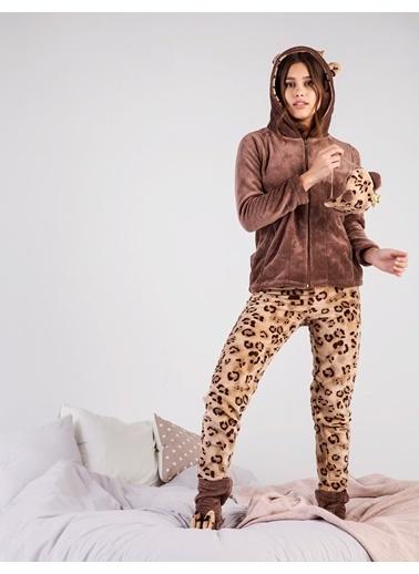 Magic Form Pijama Takım Kahve